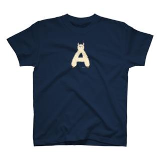 アルファベットどうぶつA1 T-shirts