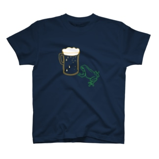 カエルとビール T-shirts