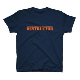 デスT(レッドオレンジ) T-shirts