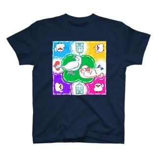 TsukiIchiYarukiのスプラッシュ文鳥 T-shirts