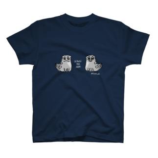 曖昧な阿吽(狛犬) 濃色用 T-shirts