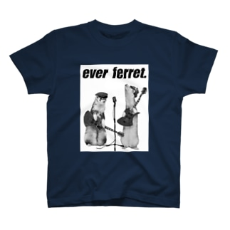 paz&sheetaのモノクロever ferret T-shirts