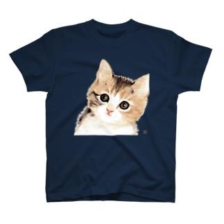子猫ちゃん、じっと見る・・・ T-shirts