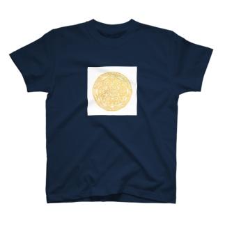 Maru ⭕ Mandala 繁栄(白) T-shirts