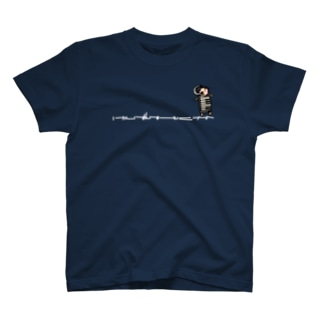 鍵ハモさんひかえめ白文字 T-shirts