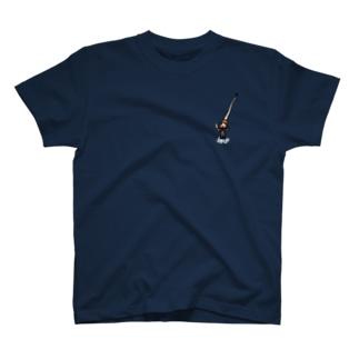 オダミヨの指揮者さんこっそり白文字 T-shirts