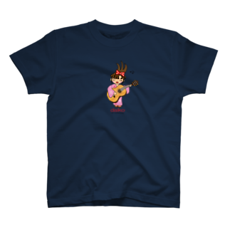 daikoShopのギターを弾く台子 T-shirts