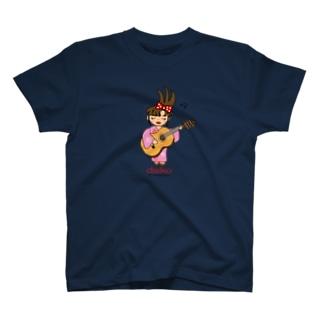 ギターを弾く台子 T-shirts