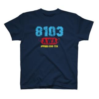 8103-AWA-ビンテージ風A T-shirts
