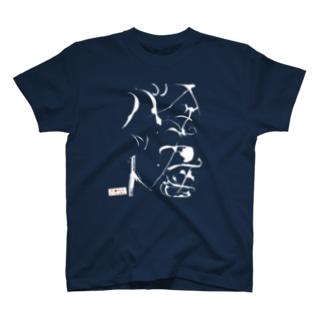 友保髪の毛アートT「金属バット」(白字) T-shirts
