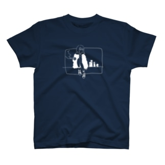 夜景(白文字ver.) T-shirts