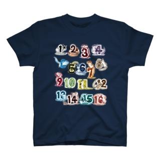 数字とシマリス 1,2,3 T-shirts
