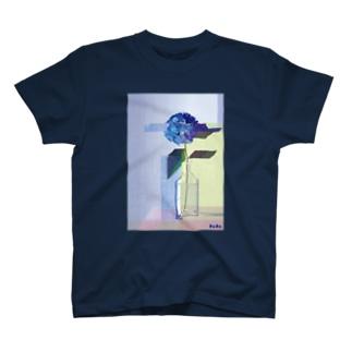 カクカクアジサイTシャツ T-shirts