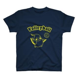 バレーボールオカメ(黄) T-shirts