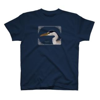 アオサギ(濃色) T-shirts