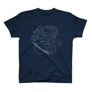 太陽系の仲間たち(黒地用) T-shirts