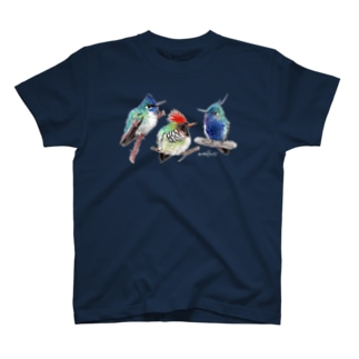 Tシャツ ハチドリ 濃色 T-shirts