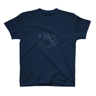 ゆらさないマル白線 T-shirts