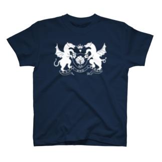 dragon emblem white T-shirts