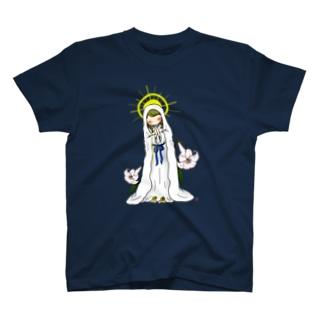「みな☆の」ルルドのマリア様 T-shirts