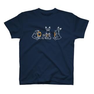 しきいろの鳥獣戯画(ポップ/花冠作り) T-shirts
