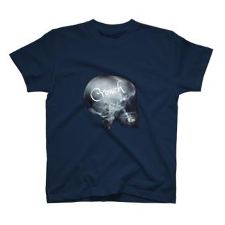 #X5 Crouch スカルTシャツ T-shirts
