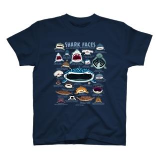 サメカオdeepcolor T-shirts