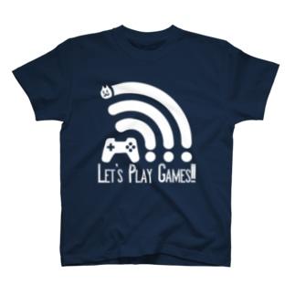 ゲームしましょ(White) T-shirts