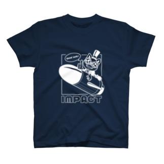 メガネコ_ロケット T-shirts