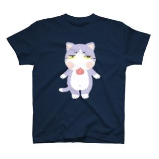 ジトにゃん(ハチワレ) T-shirts
