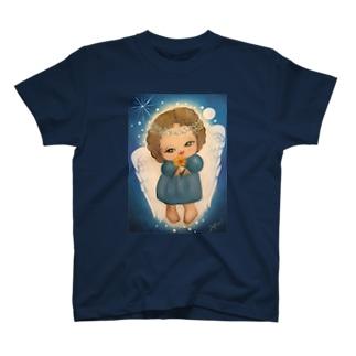 ハッピーを運ぶエンジェルちゃん T-shirts