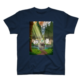 【チャックま】沼にて T-shirts