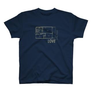 でか間取り図3 T-shirts