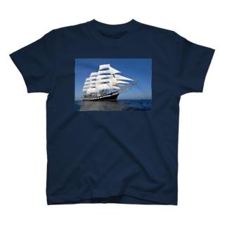 帆船のTシャツ T-shirts