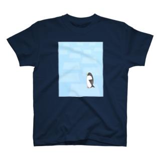 ペンギンキャラ流氷Tシャツ T-shirts