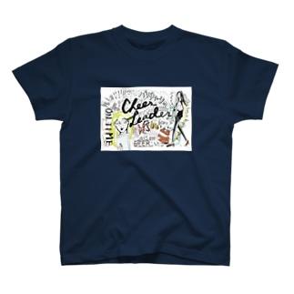 """激務応援ビール""""バリキャリのチアリーダー""""公式グッズ T-shirts"""