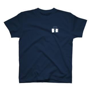 謎と宇宙好きの店のオープンザドア(白イラスト小) T-shirts