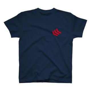 イケハヤの首から左肩にかけての曲線3本 T-shirts