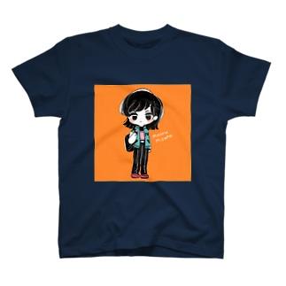 おしゃれ・オレンジ T-shirts