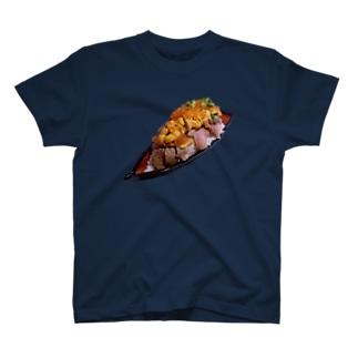 【飯テロ】ウニくの舟盛り(夢の特盛り) T-shirts