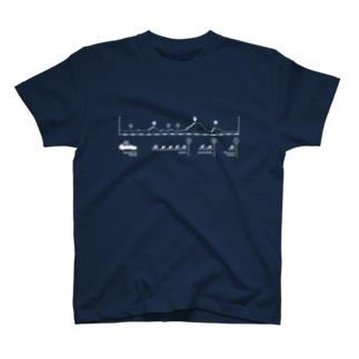 中級山岳T(印刷色:ホワイト) T-shirts
