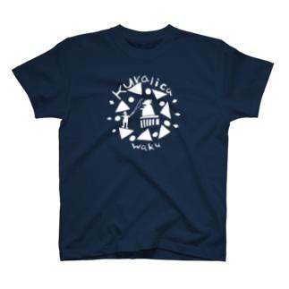 WAKUWAKUサーカス/白 T-shirts