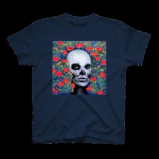 Washiemon and Ai-chan's Shopのスカルペイントフェイス T-shirts