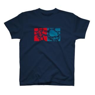 ヤモリのジョンとマリー T-shirts