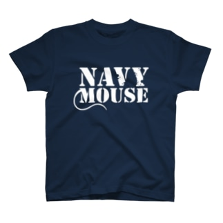 NAVYMOUSE ホワイトロゴ T-shirts