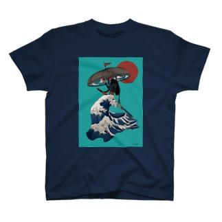 富嶽三十六景スカート🌊🌊🌊 T-shirts