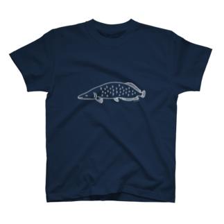 ねむみピラルク(白) T-shirts