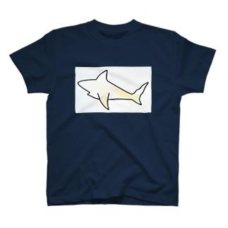 自動色塗りされた強いさめ T-shirts