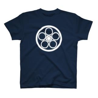 丸に中陰梅鉢 T-shirts