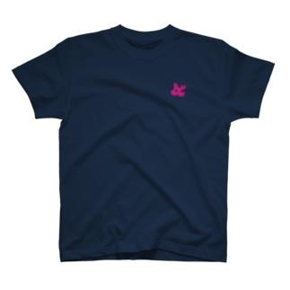ピンクトナカイ ワンポイント T-shirts